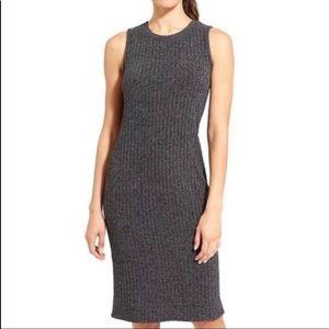 Athleta Rendezvous Charcoal Tank Knit Midi Dress